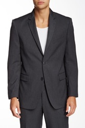Us Polo Assn. Gray Stripe Two Button Suit Separate Coat