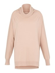 Whistles Cashmere Cowl Neck Knit Pastel Pink