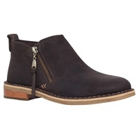 Ugg Clementine Flat Heeled Leather Ankle Boots Brown