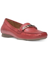 Naturalizer Saturday Moccasins Women's Shoes Red Pepper