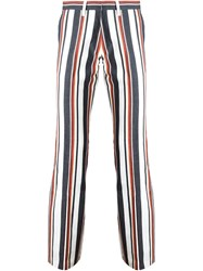 Romeo Gigli Vintage Striped Trousers Red