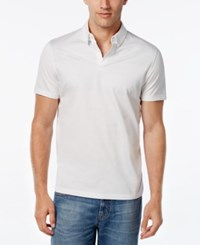 Alfani Men's Dotted Yoke Polo Only At Macy's Cool Mist Combo