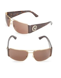 Versace 63Mm Rectangular Sunglasses Tort