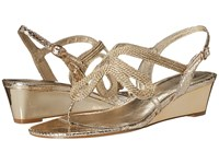 Adrianna Papell Carli Platino Women's Wedge Shoes Gold