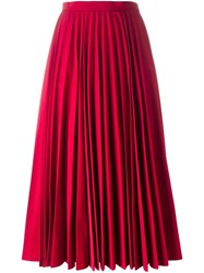 Comme Des Garcons Junya Watanabe Gara Ons Accordion Pleat Maxi Skirt Red