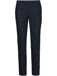 Alexandre Plokhov Devore Slim Fit Trousers Blue