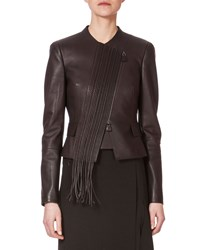 Akris Embroidered Front Leather Jacket Date Women's