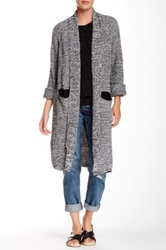 14Th And Union Long Shawl Marl Cardigan Black