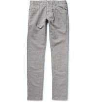 Incotex Chinolino Slim Fit Linen And Cotton Blend Trousers Gray