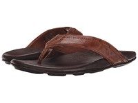 Olukai Hiapo Rum Dark Java Men's Sandals Brown