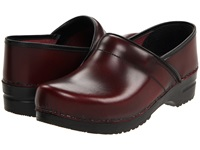 Sanita Professional Cabrio Mens Bordeaux Brush Off Leather Men's Clog Shoes Burgundy
