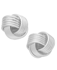 Giani Bernini Love Knot Stud Earrings In Sterling Silver