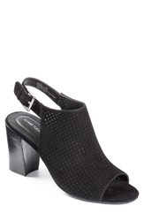 Adam Tucker By Me Too Women's Adam Tucker 'Meridia City' Perforated Slingback Peep Toe Sandal 3' Heel