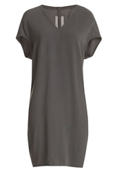 Rick Owens Crepe Dress Grey