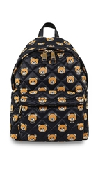 Moschino Printed Quilted Nylon Backpack Color