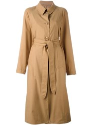 Christophe Lemaire Belted Trench Coat Brown