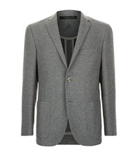 Corneliani Basketweave Jacket Male Light Grey