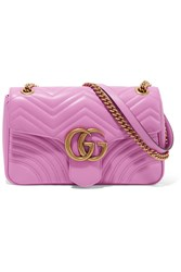 Gucci Gg Marmont Medium Quilted Leather Shoulder Bag Pink