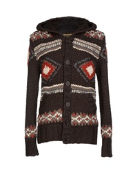 Khujo Cardigans Dark Brown