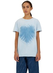 Story Mfg. Grateful Tie Dye Crew Neck T Shirt Blue