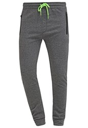 Solid Erdan Tracksuit Bottoms Grey Melange Dark Grey