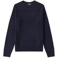 A.P.C. River Crew Knit Blue
