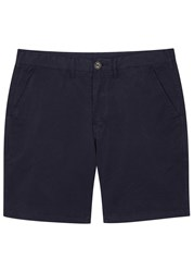 Paul Smith Navy Stretch Cotton Shorts