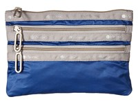Le Sport Sac Classic 3 Zip Pouch Blue Aster Wallet