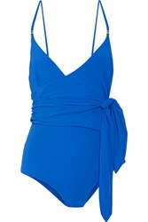 Stella Mccartney Wrap Swimsuit Bright Blue