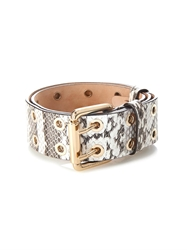 Max Mara Finire Lizard Effect Leather Belt