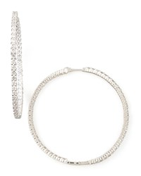 59Mm White Gold Diamond Hoop Earrings 7.55Ct Roberto Coin Red