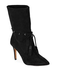French Connection Rowdy Suede Ankle Booties Black