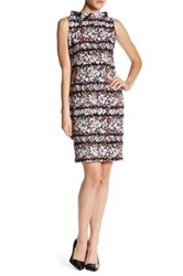 Anne Klein Rolled Neck Floral Dress Multi