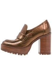 Ras High Heeled Ankle Boots Bronze Copper