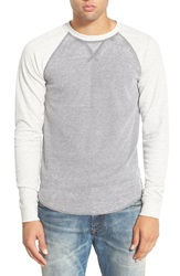 The Rail Trim Fit Colorblock Crewneck Thermal Grey Heather White Heather