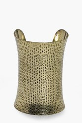Boohoo Hammered Metal Cuff Bracelet Gold