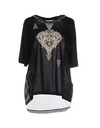 Space Style Concept Topwear T Shirts Women Black