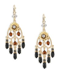 Design Lab Lord And Taylor Cluster Chandelier Drop Earrings Black