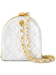 Chanel Vintage Quilted Metallic Clutch