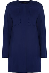 Amanda Wakeley Collarless Cotton Blend Coat