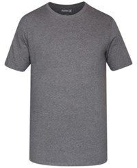 Hurley Men's Staple Dri Fit Premium Graphic Print Logo T Shirt Charcoal Heather