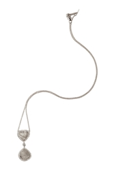 Susan Foster 18K White Gold Necklace With Slice And Micro Pave Diamonds