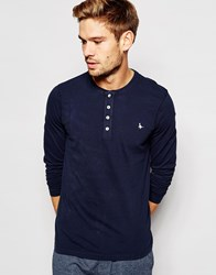 Jack Wills Lanercost Long Sleeve T Shirt In Regular Fit Blue