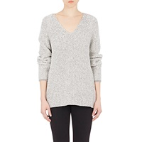 Rag And Bone Karen V Neck Sweater White Grey