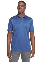 Canali Regular Fit Mercerized Polo Blue