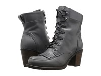 Eric Michael Oregon Grey Women's Lace Up Boots Gray