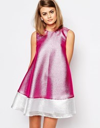 Reclaimed Vintage X Liquid Lunch A Line Dress Pink
