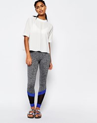 South Beach Gray Trim Legging Cobalt