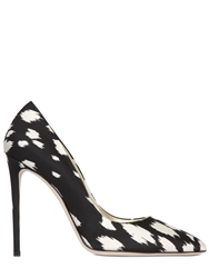 Fausto Puglisi 120Mm Leopard Printed Silk Cady Pumps Black White