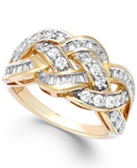 Wrapped In Love Diamond Woven Ring In 10K Gold 1 Ct. T.W. Yellow Gold